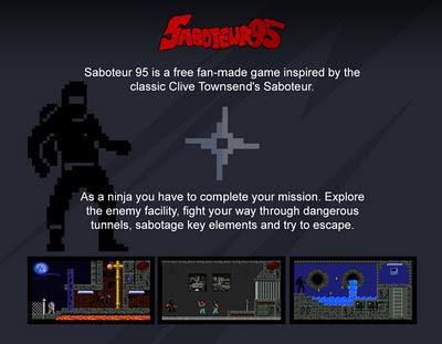 Saboteur 95: The 8-bit Retro Remake