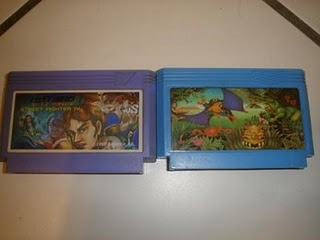 Street Fighter IV and Adventure Island 2 famicom carts