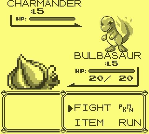 Pokemon Blue - Nintendo Gameboy Gameplay Screenshot