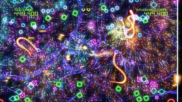 Geometry Wars in game screenshot