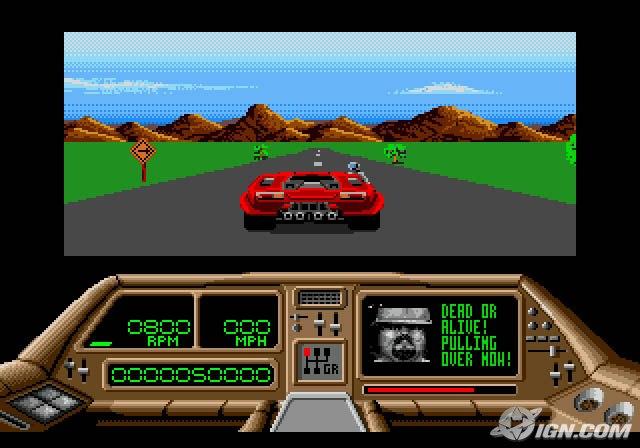 Techno Cop driving