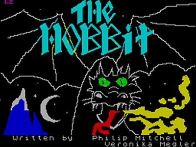The Hobbit Spectrum loading screen - ZX Spectrum 30 years old