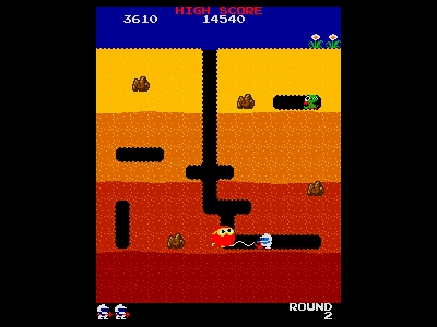 Dig Dug in-game shot