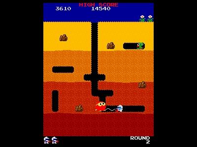 Dig Dug in-game shot