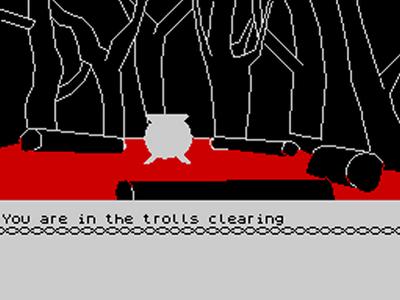 the hobbit screenshot zx spectrum