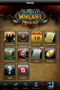 WoW Armory phone app