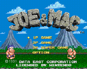 Joe &amp; Mac - Super Nintendo - Gameplay Screenshot
