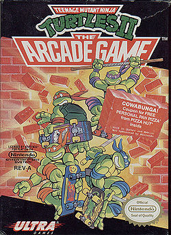TMNT arcade game box
