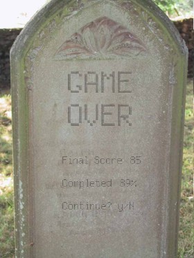 Game Over tombstone