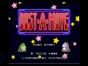 Bust-A-Move SNES screen
