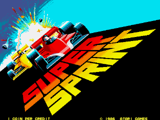 Super Sprint - Title Screen