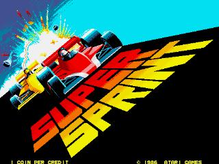 Super Sprint - Title Screen