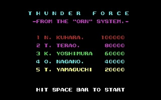 Thunder Force - Gameplay Screenshot