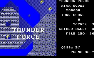 Thunder Force - Title Screen