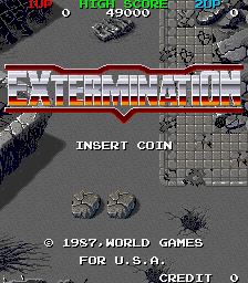 Extermination insert coin screenshot