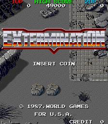 Extermination insert coin screenshot