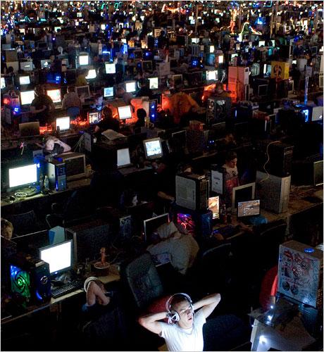 LAN Party dark