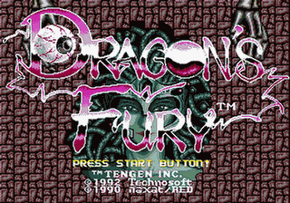 Dragons Fury - Devils Crush MD - Gameplay Screenshot