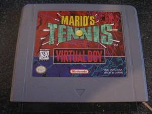 Virtual Boy Mario's Tennis cartridge