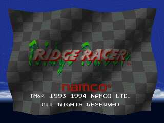 Ridge Racer - Title Screen