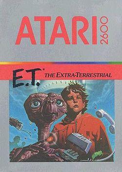Atari ET game box art