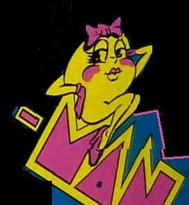 Ms Pacman arcade side