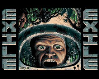 Exile Amiga Title Screen