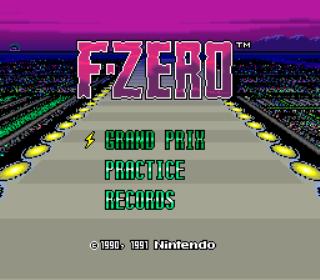 F-Zero - Title Screen