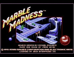 Marble Madness - Title Screen