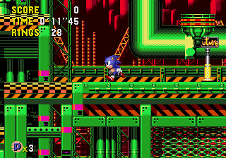 Sonic CD – Wacky Workbench (Past)