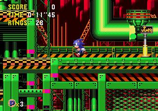 Sonic CD – Wacky Workbench (Past)