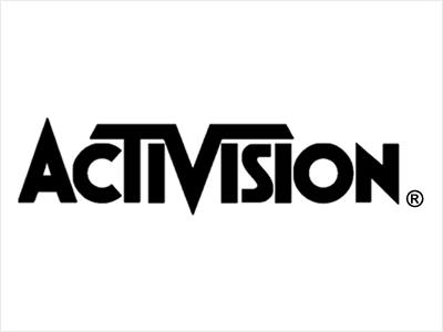 Activision logo black and white