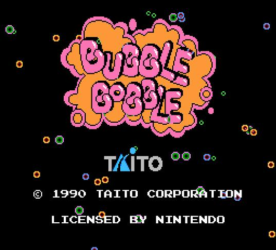 Bubble Bobble splash screen