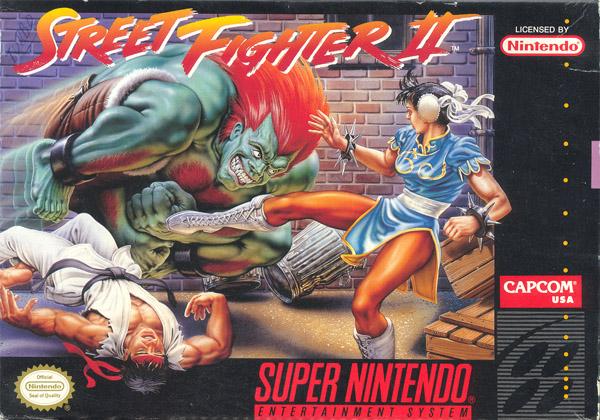 SNES Street Fighter 2 box