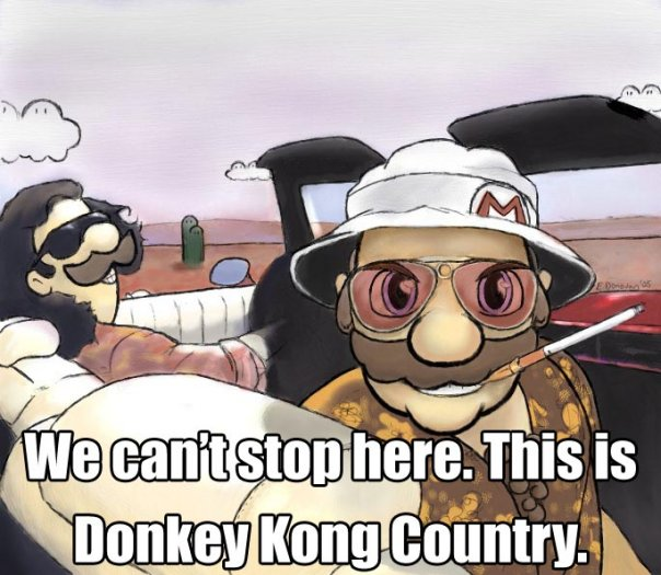 Super Mario Fear and Loathing in Las Vegas