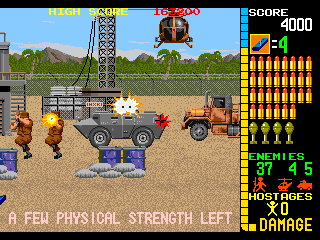 Operation Wolf - Gameplay Screenshot