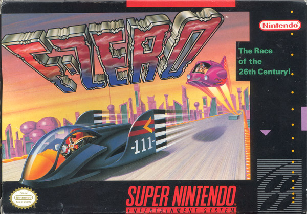 F-Zero SNES box cover