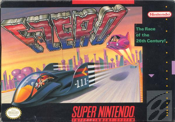 F-Zero SNES box cover