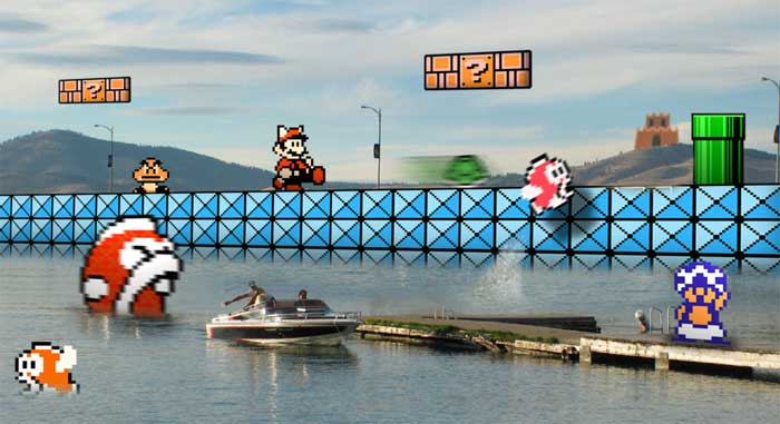 Super Mario Bros wall
