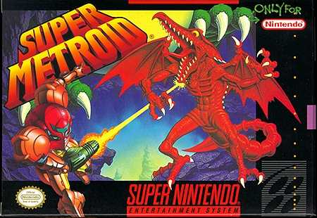 Super Metroid Snes box cover