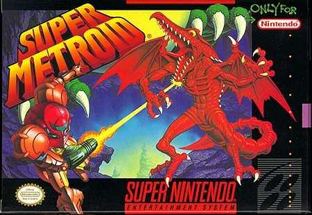 Super Metroid Snes box cover