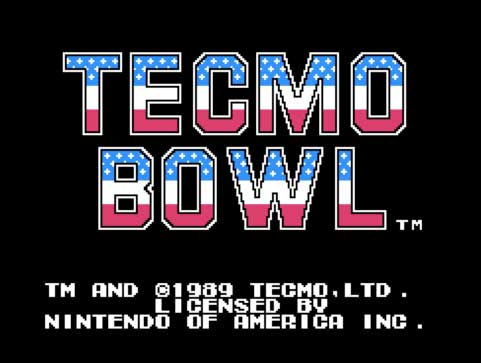 Tecmo Bowl title screen