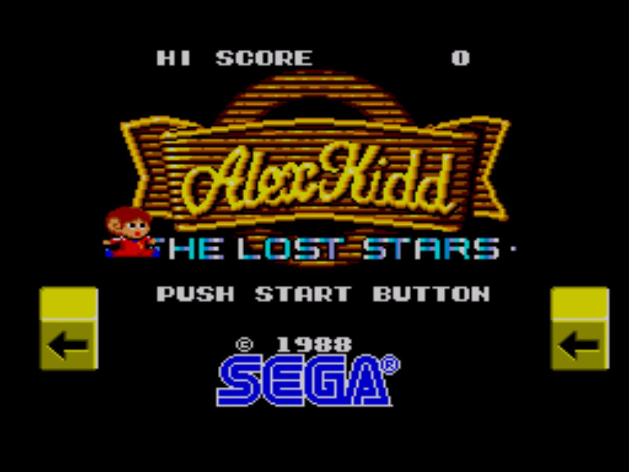 Alex Kidd title screen