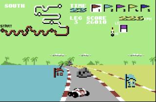Buggy Boy - Commodore 64 - Gameplay Screenshot