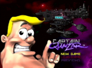 Captain Quazar - Title Screen