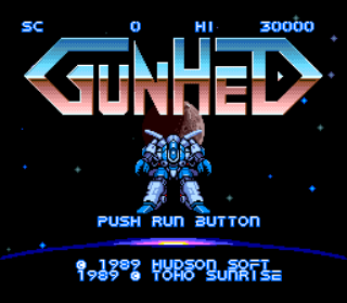 Gunhed - Blazing Lazers - Title Screen