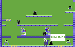Impossible Mission- Commodore 64 - Gameplay Screenshot