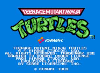 Teenage Muntant Ninja Turtles - Title Screen