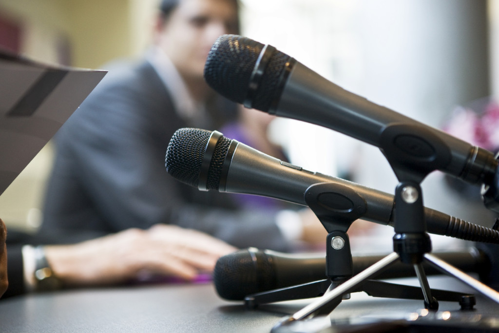 Panel Discussion microphones