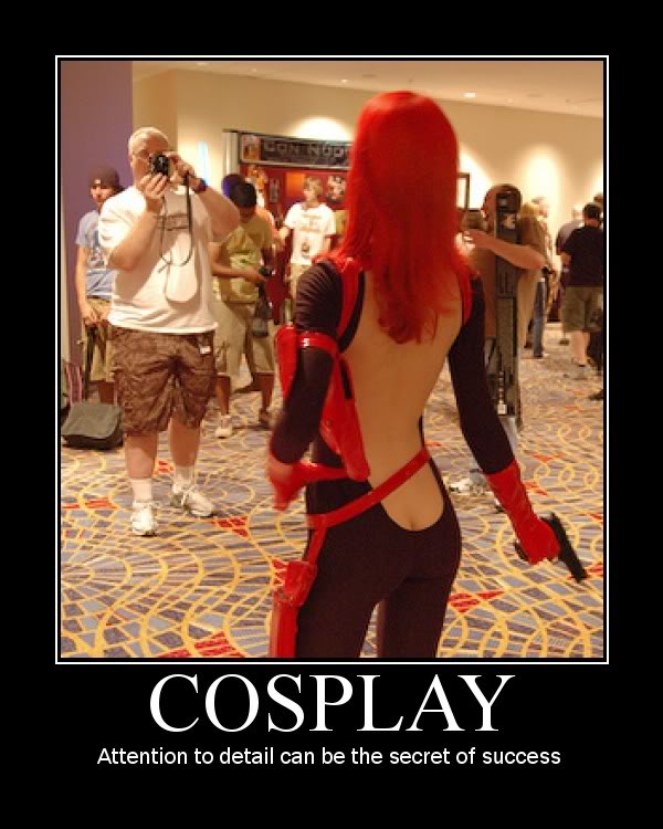 hot cosplay girl back